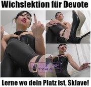 Wichslektion für Devote - Lerne wo dein Platz ist, Sklave!