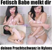 Fetisch Babe melkt dir deinen Prachtschwanz in Nylons