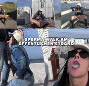 Sperma Walk am öffentlichen Strand