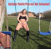 Outdoor Public Piss auf der Schaukel!