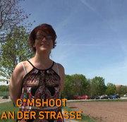 Cumshoot an der Strasse
