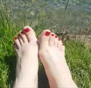F��e im Natur am See