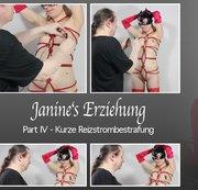 Janine's Erziehung – Part 4 – Kurze Reizstrombestrafung