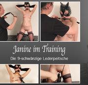 Janine im Training - Die 9-schwänzige Lederpeitsche