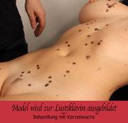 Model wird zur Lustsklavin ausgebildet – Teil 3 – Behandlung mit Kerzenwachs