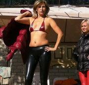 Outdoor Daunenjacken Modenschau mit Christina