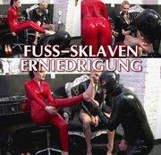 Fuss-Sklaven Erniedrigung