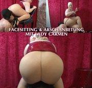 Facesitting und Arschanbetung mit Lady Carmen
