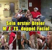 Sein erster Dreier - M/F/TS doppel Facial