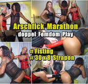 Arschfick Marathon - doppel Femdom Play |Fisting -Strapon 30 x 8