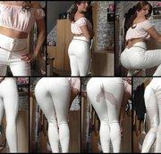 weiße bepisste Hose