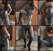 Jeansoverall.....Gummistiefel.....NS
