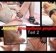 Jasmins Strumpfhose vollgespritzt Teil 2